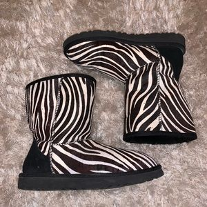 Black and White Zebra UGGS